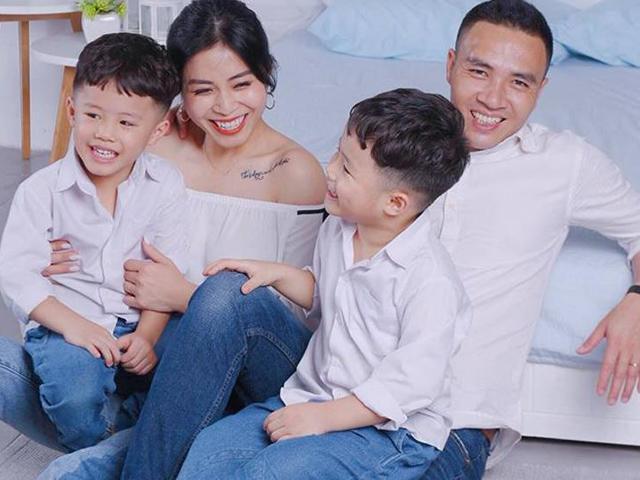 Trước khi hủy kết bạn, cặp song sinh của Hoàng Linh từng quấn chồng sắp cưới của mẹ đến vậy