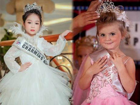 Trẻ em mặc váy hở hang đi giày cao gót thi hoa hậu nhí Việt Nam: Trái non chín ép!