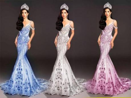 """Hoa hậu Tiểu Vy nhờ fans chọn váy dạ hội giúp và cái kết """"đắng lòng"""" khiến cô đau đầu"""