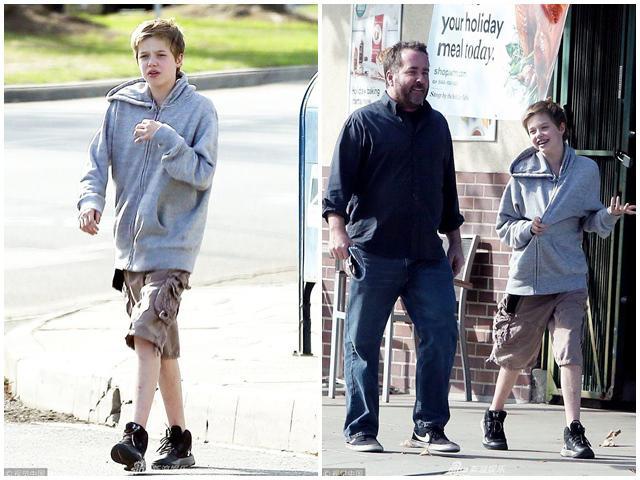Sau thông tin bỏ rơi Angelina muốn ở với bố Brad Pitt, cô bé tomboy Shiloh một mình lộ diện