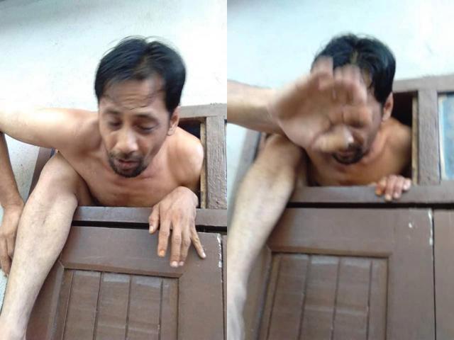 Bị bắt quả tang nhìn trộm phụ nữ tắm, kẻ biến thái trần như nhộng tháo chạy qua cửa sổ