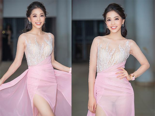 Photoshop ảnh mượt mà, Á hậu Phương Nga vẫn lộ nội y vì mặc váy xuyên thấu