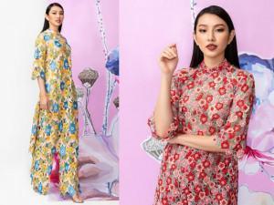 Hậu Miss International, Thuỳ Tiên :chơi lớn với áo dài ren phối cùng... boots