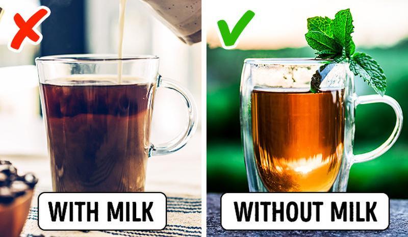 Uống trà có ảnh hưởng tích cực đến chức năng của hệ thống tim mạch. Tuy nhiên việc pha thêm sữa vào trà (ví dụ trà sữa)sẽ làm mất đi lợi ích này. Bởi các nhà khoa họcphát hiện ra rằng casein -protein có trong sữa có thểloại bỏ công dụng của trà.
