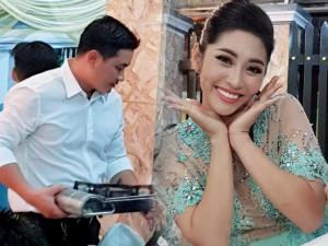 Cưới chồng sướng như Hoa hậu Đặng Thu Thảo: Ông xã đại gia bưng bê đồ ăn cho khách mời