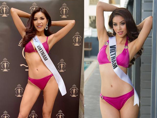 Giống từ cách tạo dáng đến màu bikini, Minh Tú và Phạm Hương ai gợi cảm hơn ai?