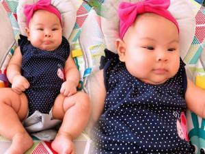"""Chia sẻ ảnh """"ú nu"""" của con gái 4 tháng, Thanh Thảo cho biết bé cần phải... giảm cân gấp"""