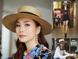 Giàu có là thế, nhưng chị đại Thanh Hằng chỉ dùng mỗi chiếc nón này nhiều năm qua!