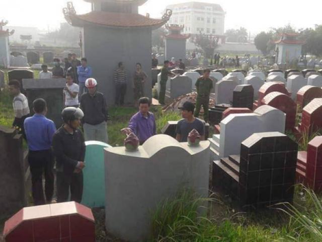 Gần 100 ngôi mộ ở Hưng Yên bất ngờ bị đập vỡ bát hương trong đêm