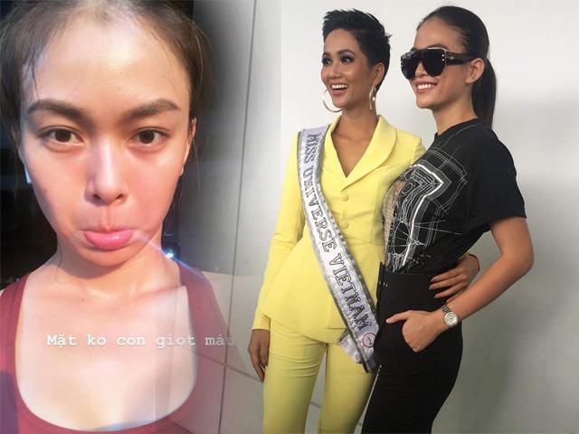 Tiễn H Hen Niê lên đường thi Miss Univere, Mâu Thuỷ chỉ đánh son kẻ mày mà vẫn xinh đẹp