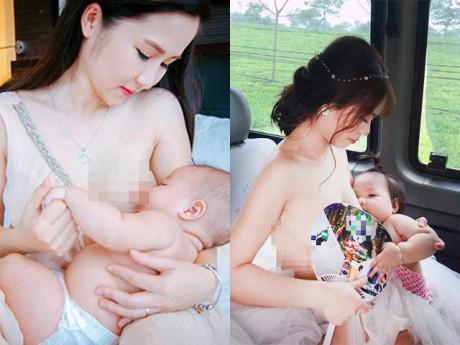 """4 cô dâu Việt xinh đẹp ngực trần cho con bú, dân mạng thốt lên  """" Đẹp bất phân thắng bại! """""""