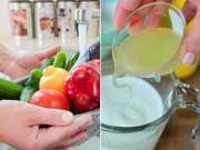 """Nhà đẹp - 5 loại nước """"tự chế"""" rửa rau củ cực sạch, lọc hóa chất tốt gấp 10 lần nước muối"""