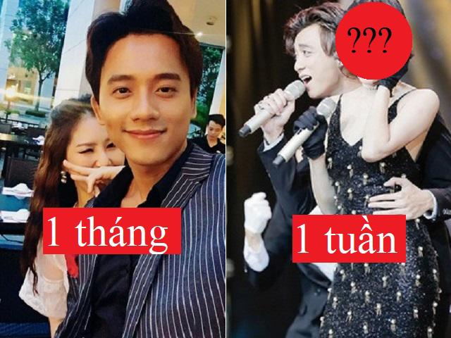 Những cuộc tình đoản mệnh nhất showbiz Việt: Choáng nhất là cặp đôi yêu 1 tuần đã… chia tay
