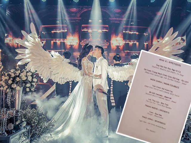 Thực đơn tiệc cưới Ưng Hoàng Phúc sang chảnh, Đông - Tây kết hợp chẳng kém gì của Trường Giang