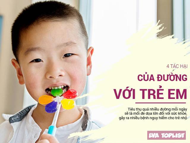 Cho trẻ ăn nhiều bánh kẹo, hẳn là các mẹ chưa biết tác hại nguy hiểm của đường