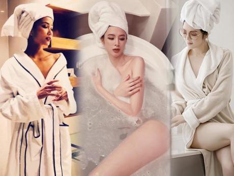 Khoe dáng trong buồng tắm - 1001 cách ăn mặc nhức mắt của Lý Nhã Kỳ và sao Việt