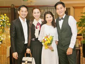 Ngân Khánh, Phan Như Thảo dắt chồng đi đám cưới đạo diễn Lê Minh và vợ kém 12 tuổi