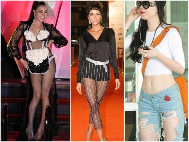Khóc thét trước những chiếc quần tai hại, có cho cũng không ai dám mặc của sao Việt