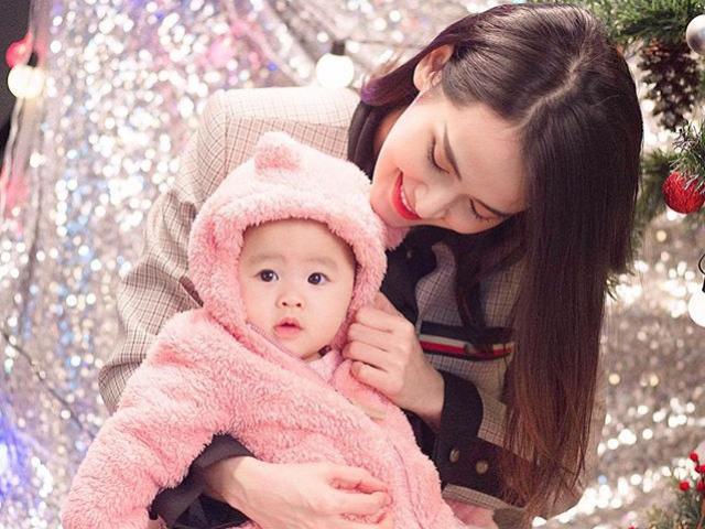 Tú Vi khoe ảnh cận mặt con gái 8 tháng, dân mạng trầm trồ giống hệt bố Văn Anh