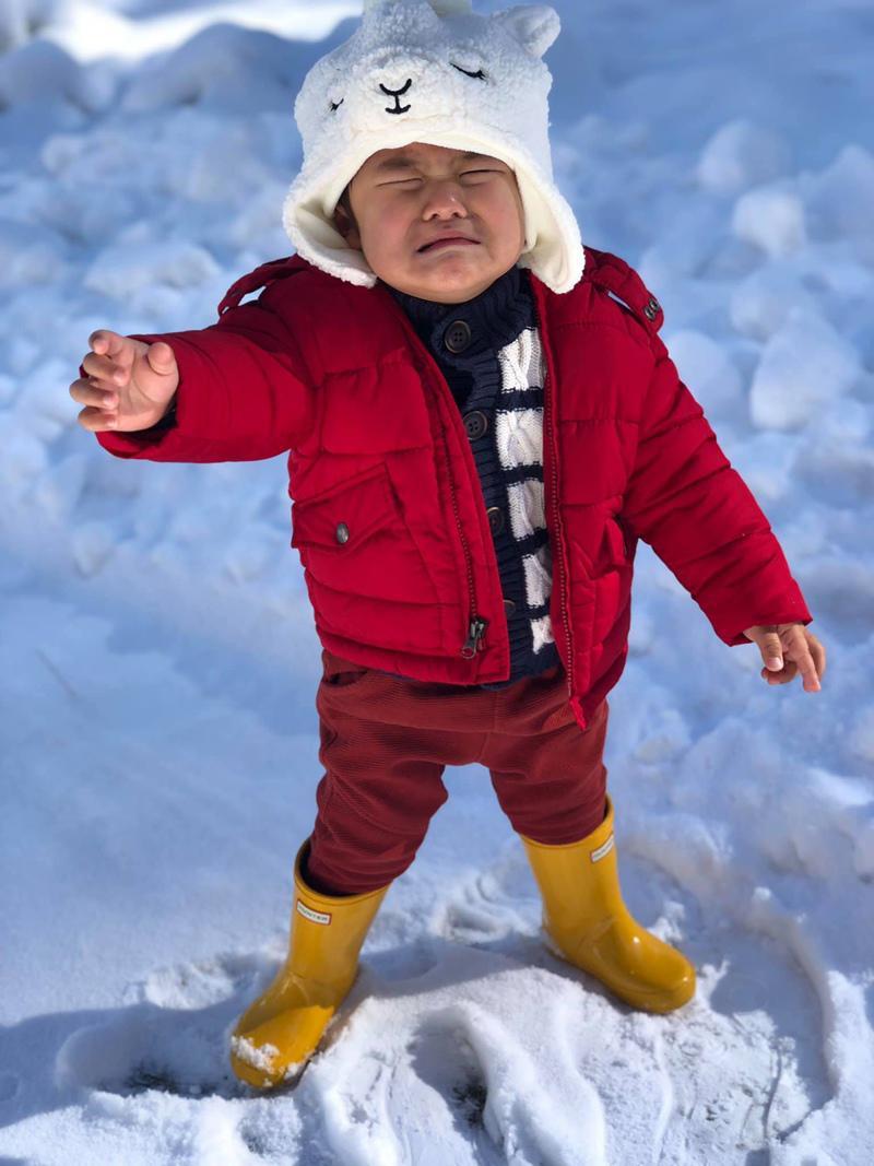 Bà xã Đan Trường vừa chia sẻ loạt ảnh lần đầu tiên con trai được chơi với tuyết, trong đó gây chú ý nhất là hình ảnh Thiên Từ khóc khiến ai cũng thương.