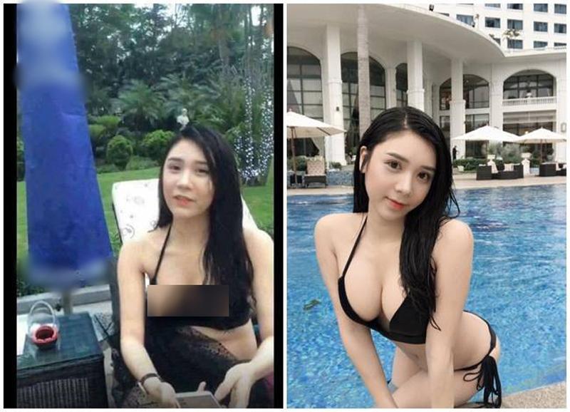 Thanh Bi vô tình bị lộ ngực khi livestream trò chuyện cùng fan trong một buổi chụp ảnh bikini. Thiết kế xẻ ngực quá táo bạo đã vô tình phản chủ.