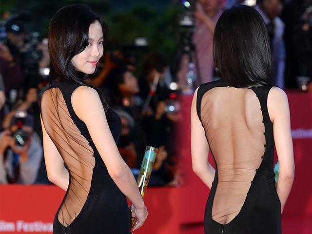 Bí mật về bộ váy lộ vòng 3 gây sốc nhất lịch sử thảm đỏ Hàn Quốc