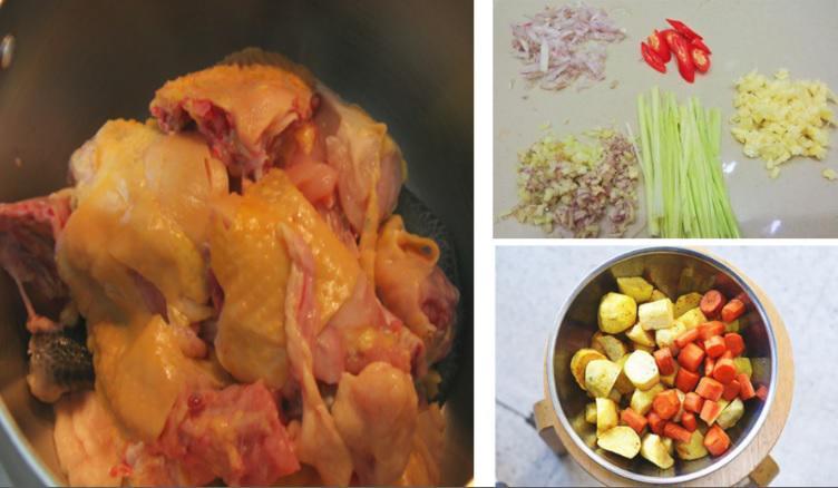 Sơ chế gà và rau củ - 2