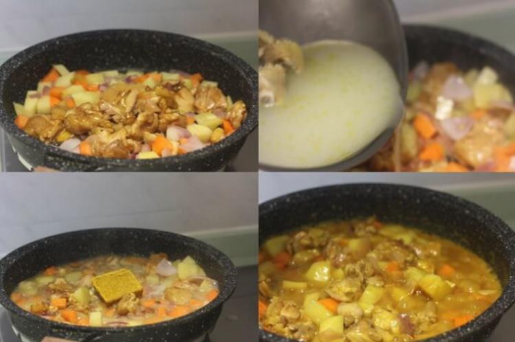 Cà ri gà hầm chín đều rồi tắt bếp - 4