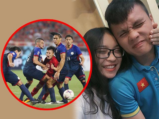 Khiến triệu fan xót xa vì bị đau và kìm kẹp, sau trận, Quang Hải vô tư trêu người yêu
