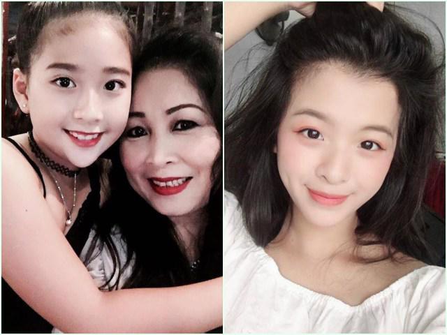 2 cô con gái đẹp như trăng rằm, phổng phao tựa thiếu nữ của 2 nghệ sĩ Việt