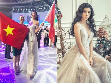 Vừa vào Top 30 Miss World, Tiểu Vy diện váy xẻ ngực sâu hút khoe vòng một tuyệt mỹ