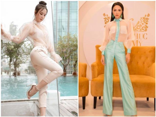 Cùng diện áo trong suốt sexy, tưởng Angela Phương Trinh đẹp nhất, ai ngờ nhìn Hương Giang mà… rụng tim