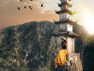 """""""Ngọn tháp chọc trời"""" trên đỉnh Vạn Lý Trường Thành phiên bản Việt đẹp tựa phim cổ trang"""