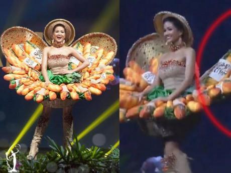 """Trang phục """"Bánh Mì"""" của H' Hen Niê bị gãy, cách mà cô xử lý khiến fans tự hào"""
