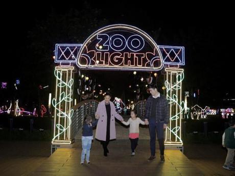 Đưa con yêu đi ngắm Vườn thú ánh sáng Zoo Lights lần đầu xuất hiện tại Hà Nội