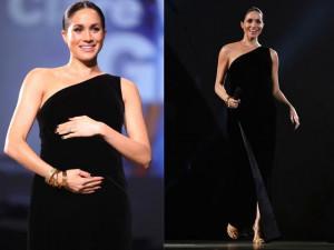 Diện váy xẻ đi giày cao gót, Công nương Meghan đích thị là bà bầu mặc đẹp nhất thế giới