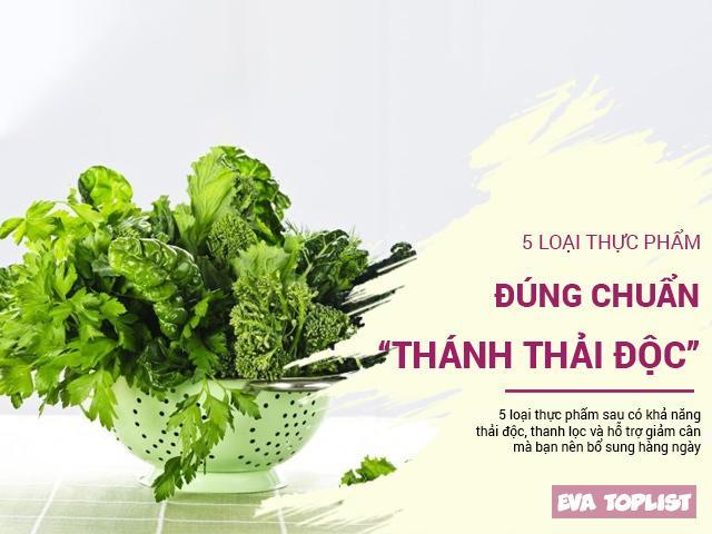 Thải độc cho dáng đẹp eo thon thì nhất quyết đừng bỏ qua các loại rau này
