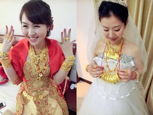 Lóa mắt với đám cưới tắm trong vàng của cô dâu xinh đẹp lấy chồng đại gia