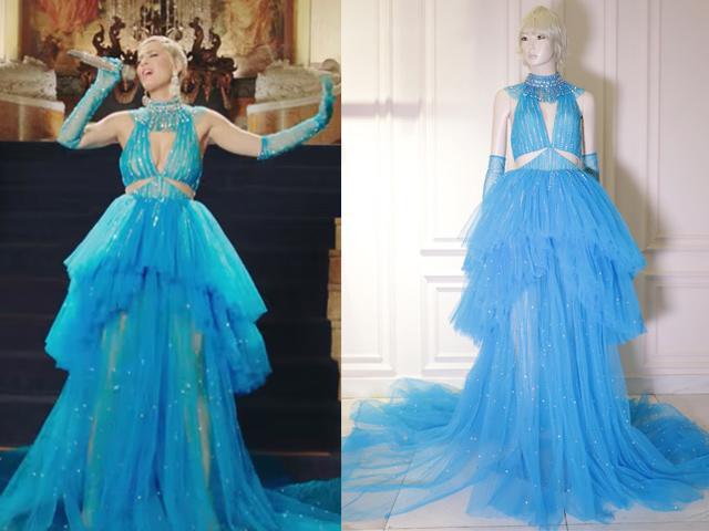 Diện chiếc váy được làm đúng 1 ngày,  Katy Perry trở thành khách VIP của NTK Công Trí