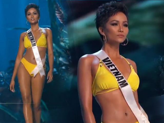 H Hen Niê sexy hết nấc, hô to 2 chữ Việt Nam trên sân khấu bán kết Miss Universe 2018