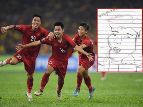 Đức Huy trổ tài vẽ tuyển Việt Nam, nhìn đến Quang Hải, Đức Chinh mà cười ngất