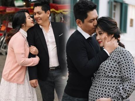 Sát ngày sinh nở, bà bầu Thanh Thuý hạnh phúc ngọt ngào trong vòng tay chồng yêu - Đức Thịnh