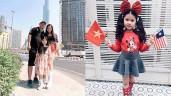 Hoa hậu nhí Malaysia 2017 lai Việt Nam, mẹ Việt kể chuyện oái oăm khi cổ vũ  AFF Cup