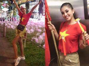 Việt Nam vô địch, H'Hen Niê, Tiểu Vy nhuộm đỏ mạng xã hội bằng chiếc áo 50K