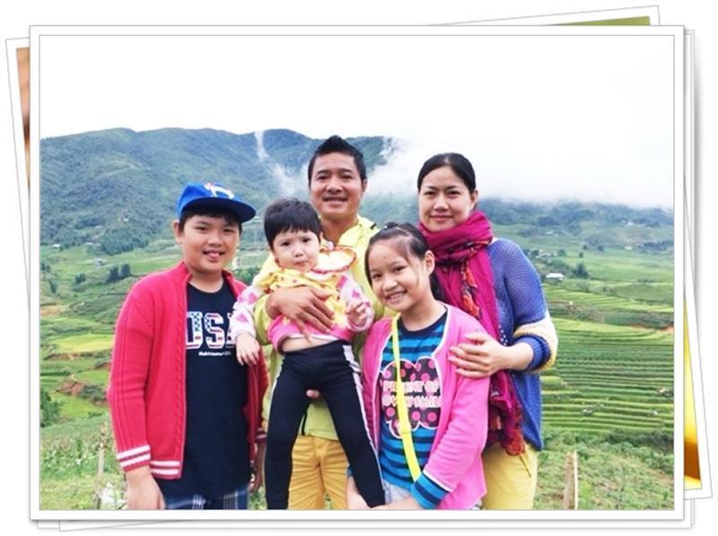 Gia đình 3 con của Hồng Sơn.