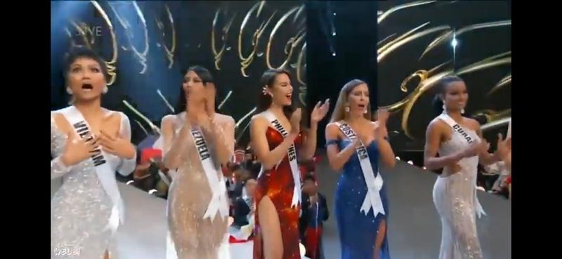 Khi được xướng tên vào Top 5 chung cuộc tại Miss Universe, H'Hen Niê thực sự quá bất ngờ cô như muốn ngất xỉu trên sân khấu.