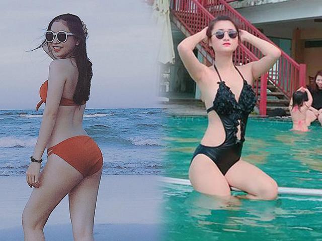 Bạn gái Quang Hải, Huy Hùng, Phan Văn Đức siêu hot với áo tắm