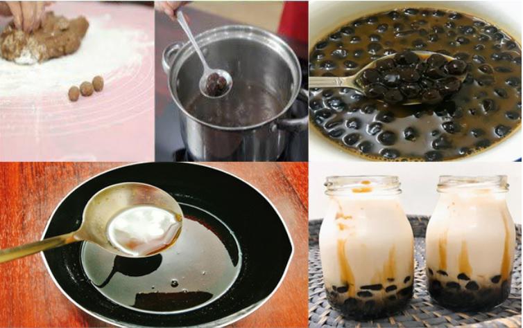 Cách làm trà sữa trân châu đường đen - 4