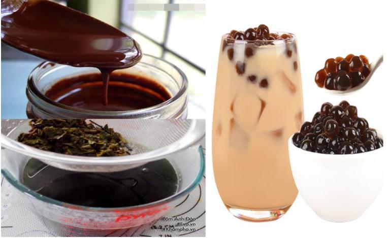 Cách làm trà sữa trân châu socola - 5