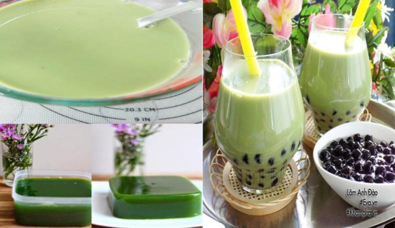 Trà sữa thái với thạch màu xanh đẹp mắt - 6